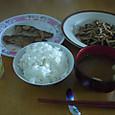 鯖の味噌煮のある今日の朝食